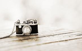 фотоаппарат, камень, подвеска, фон, цепочка, кулон