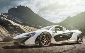 Montañas, Supercar, Supercars, blanco, McLaren