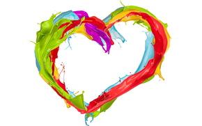heart, Paint, spray