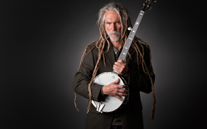 banjo, studio, musician, portrait
