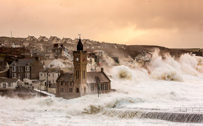 Великобритания, Англия, шторм