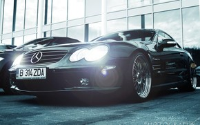 Mercedes, Auto, Maschine, im Freien