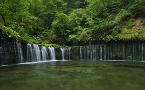Нагано, Каруидзава-мати, Япония., (Белые Нити), водопад Сираито