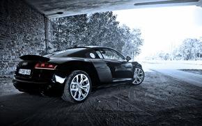 машина, Audi, фон