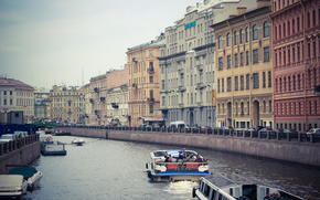 Russia, river, home, petersburg, Peter, spb, building, Boat