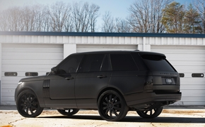 Land Rover, black wheels, Land Rover, hotspot, matt black, profile, Ranged rover