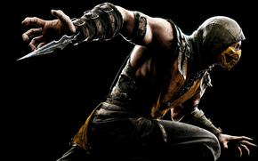 Mortal Kombat, Mortal Kombat X, Scorpion, games, 2015