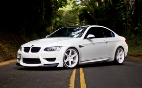 BMW, white, BMW, Side view, Drives, White