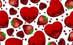 TEXTURE, strawberry, hearts