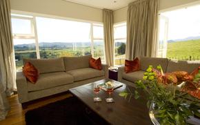 spazio vitale, interno, villa, stile, progettazione, domestico