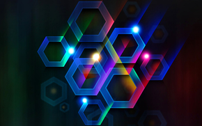 light, cell, Rays, volume, COLOR, line, hexahedron