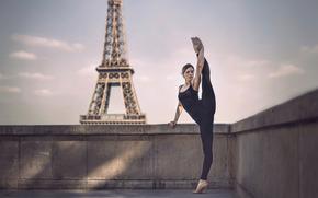 twine, Paris, girl, Eiffel Tower