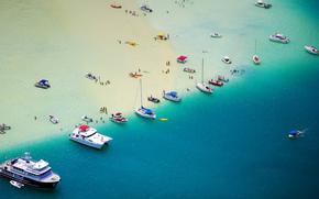 катер, отдых, отпуск, лодки, люди, море, яхта