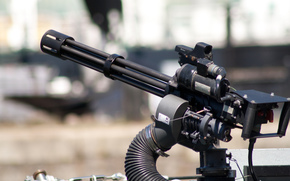 многоствольный, оружие, пулемет