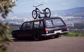 Other brands, ussr, frame, bike, distance, RARITET, city, landscape, gas, Volga