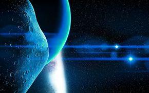 asteroida, światło, gwiazda, Wszechświat, Promienie, planeta