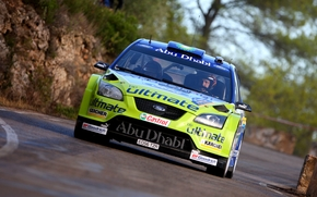 in motion, Car, racer, ford, Race, Front