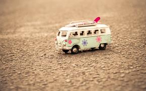 фон, широкоформатные, игрушка, настроения, асфальт, макро, земля, полноэкранные, широкоэкранные, обои, автобус