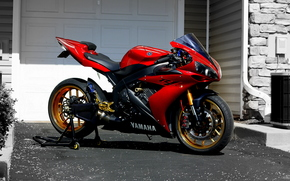 Yamaha, R1, red, Sportbikes