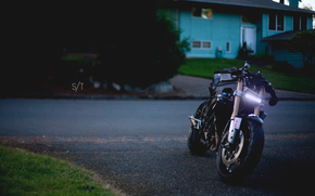 Street fighter, Custom, Sportbikes, evening