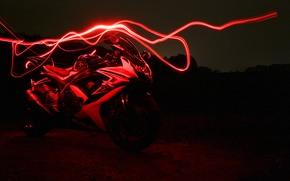 Susuki GSX750R, red, neon