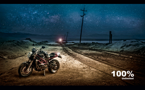 Ducati, railroad, black, night, Street fighter