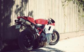 Ducati 1098, триколор, солнце, день, Спотртбайк
