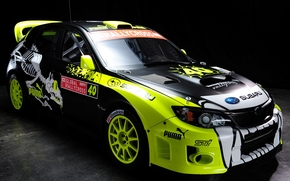 car, Subaru, Rally, racing