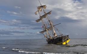 shoal, brig, Other machinery and equipment, sea, sailfish