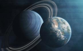 Satellite, pianeta, Anelli, Universo