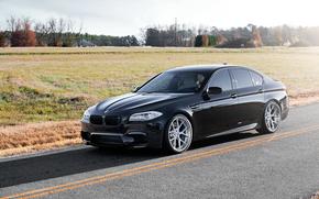 Feld, Seitenansicht, BMW, BMW, schwarz, Schatten