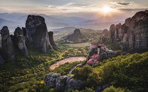 UNESCO, Meteore, Grecia, monastero, Patrimonio Mondiale