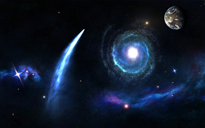 地球, 宇宙, 明星, 星系, 彗星