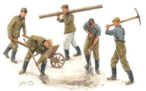 Вторая мировая война, художник, Андрей Каращук, солдаты, немецкие, рисунок