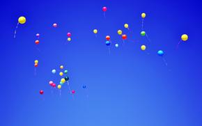 Balony, Balony, latać, niebo, niebieski