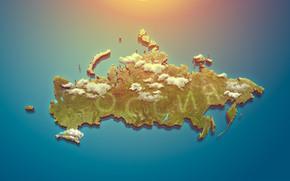 chiaro, Russia, mondiale, sole, mappa