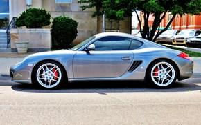 strada, sintonizzazione, Azionamenti, parcheggio, Porsche, auto, argento, auto sportive