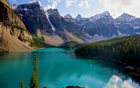 Canada Banff National Park, Morraine Lake, горы, озеро, рейзаж