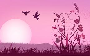 Rendering, 3d, summer, sun, miscellanea, minimalism