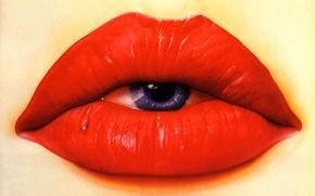Стиль, разное, рендеринг, 3D, губы