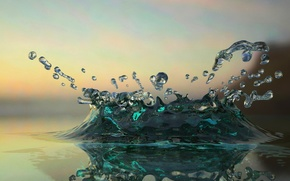 miscellanea, Rendering, water, 3d, drops, abstraction