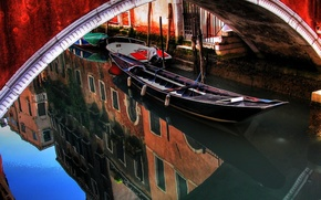Корабли, лодка, лодки, гандола, Венеция, река