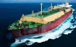 Корабли, море, танкер, судно, транспорт