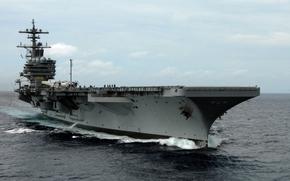 lotniskowiec, statek, statek, zwykle, transport