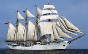 statek, parusnik.yahta, statek, zwykle, fregata