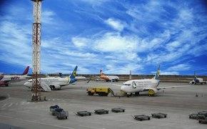 FLIGHT, airport, aviation, sky, Liner