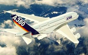 Авиация, транспорт, самолёт, аэробус, лайнер.полёт