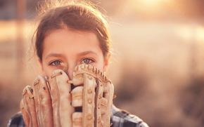 спорт, девочка, перчатка