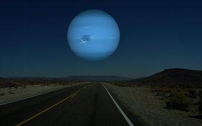 planet, road, space, landscapes