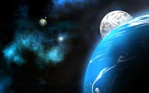 espacio, planeta, Planeta, Neptuno, cielo, Estrella